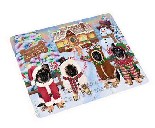 Holiday Gingerbread Cookie Shop German Shepherds Dog Large Refrigerator / Dishwasher Magnet RMAG100668
