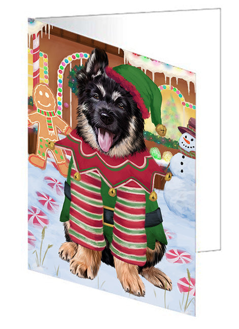 Christmas Gingerbread House Candyfest German Shepherd Dog Note Card NCD73517