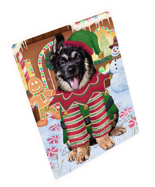 Christmas Gingerbread House Candyfest German Shepherd Dog Large Refrigerator / Dishwasher Magnet RMAG100272