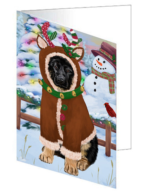 Christmas Gingerbread House Candyfest German Shepherd Dog Note Card NCD73520