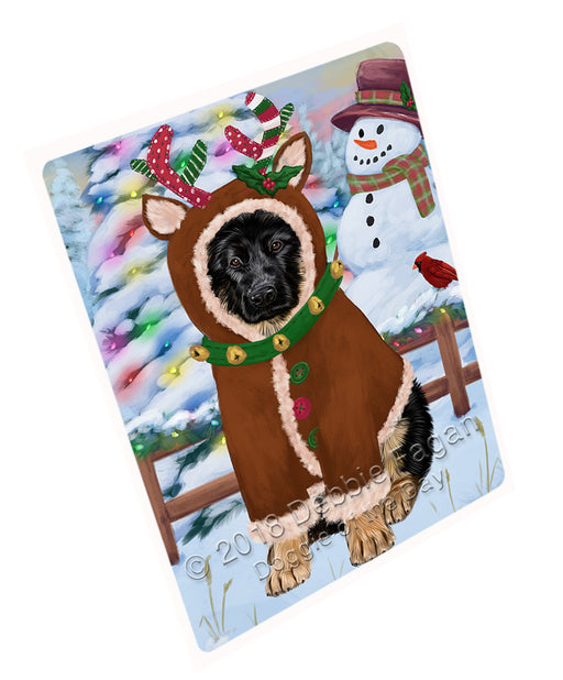 Christmas Gingerbread House Candyfest German Shepherd Dog Large Refrigerator / Dishwasher Magnet RMAG100278