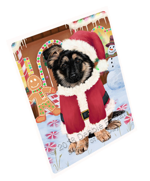 Christmas Gingerbread House Candyfest German Shepherd Dog Large Refrigerator / Dishwasher Magnet RMAG100284