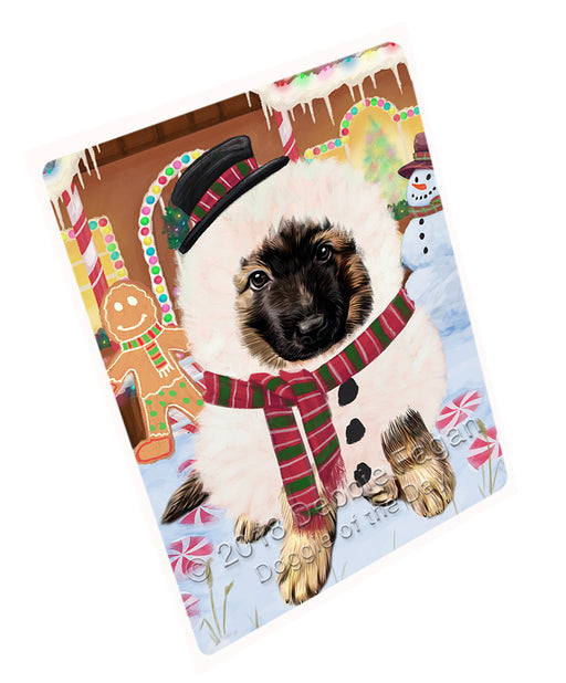 Christmas Gingerbread House Candyfest German Shepherd Dog Large Refrigerator / Dishwasher Magnet RMAG100290