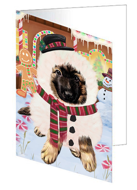 Christmas Gingerbread House Candyfest German Shepherd Dog Note Card NCD73526