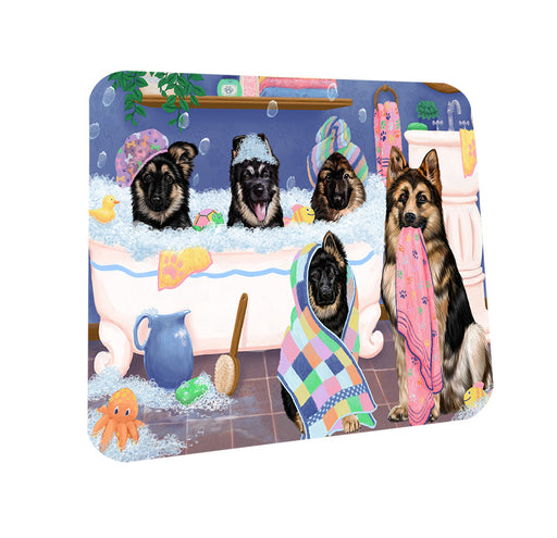 Rub A Dub Dogs In A Tub German Shepherds Dog Coasters Set of 4 CST56747