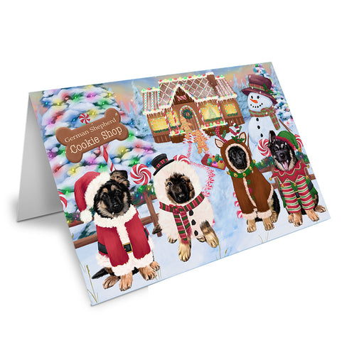 Holiday Gingerbread Cookie Shop German Shepherds Dog Note Card NCD73715