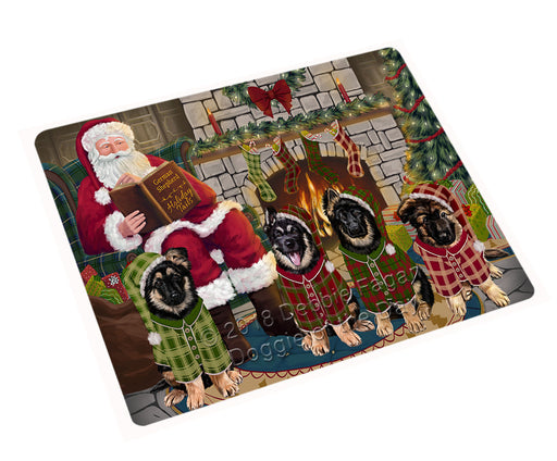 Christmas Cozy Holiday Tails German Shepherds Dog Cutting Board C70512