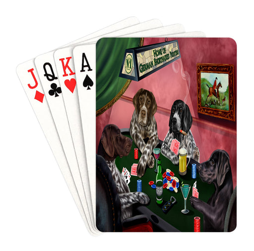 Home of German Shorthaired Pointer Dogs Playing Poker Playing Card Decks