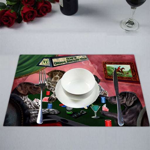 Home of  German Shorthaired Pointer Dogs Playing Poker Placemat