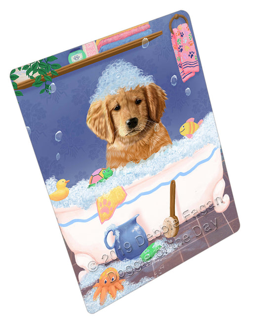 Rub A Dub Dog In A Tub Golden Retriever Dog Refrigerator / Dishwasher Magnet RMAG109188