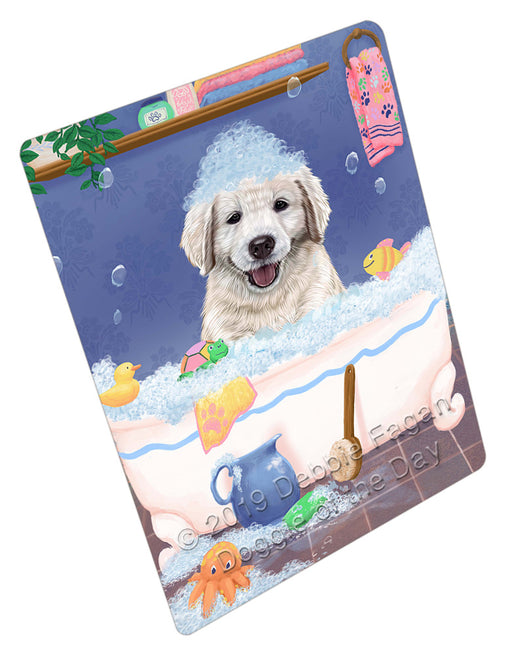 Rub A Dub Dog In A Tub Golden Retriever Dog Refrigerator / Dishwasher Magnet RMAG109194