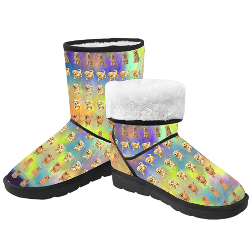 Paradise Wave Golden Retriever Dog  Kid's Snow Boots