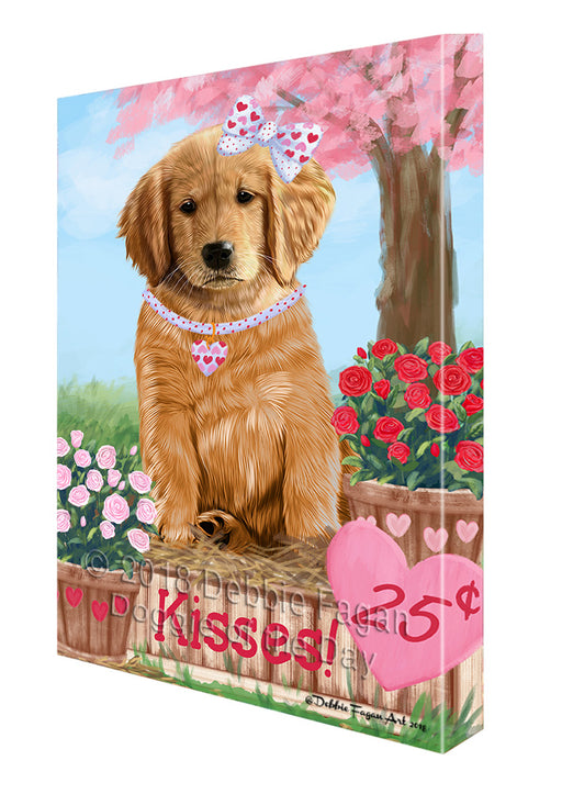Rosie 25 Cent Kisses Golden Retriever Dog Canvas Print Wall Art Décor CVS125054