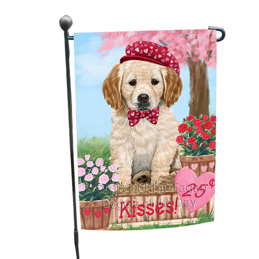 Rosie 25 Cent Kisses Golden Retriever Dog Garden Flag GFLG56420