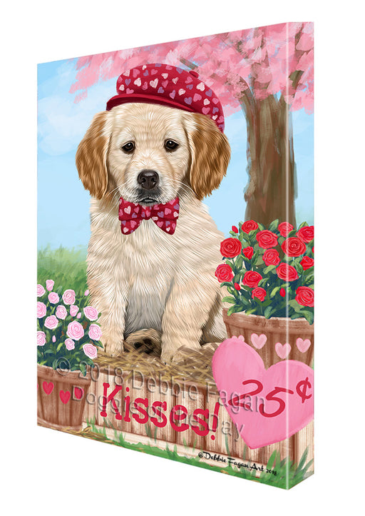 Rosie 25 Cent Kisses Golden Retriever Dog Canvas Print Wall Art Décor CVS125072