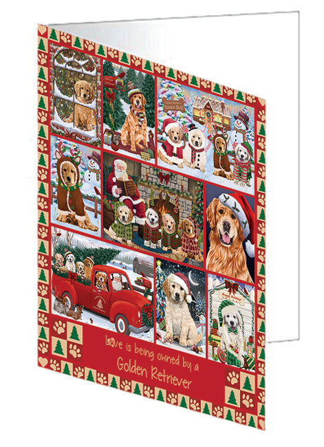 Love is Being Owned Christmas Golden Retriever Dogs Greeting Card GCD78905