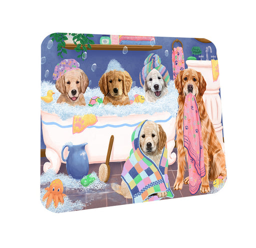 Rub A Dub Dogs In A Tub Golden Retrievers Dog Coasters Set of 4 CST56748
