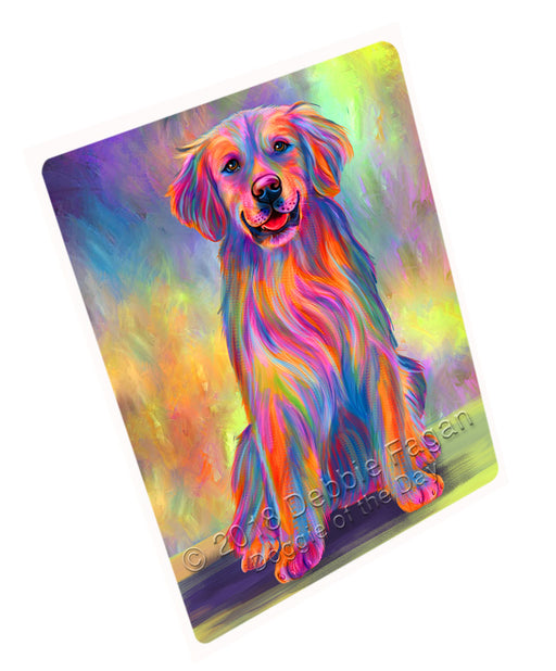 "Paradise Wave Golden Retriever Dog Magnet MAG75264 (Small 5.5"" x 4.25"")"
