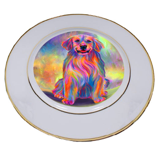 Paradise Wave Golden Retriever Dog Porcelain Plate PLT55058