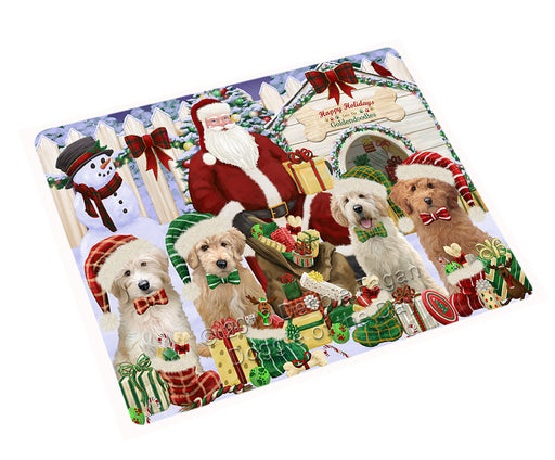 Christmas Dog House Goldendoodles Dog Cutting Board C61899
