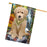 Scenic Waterfall Goldendoodle Dog House Flag FLG52025