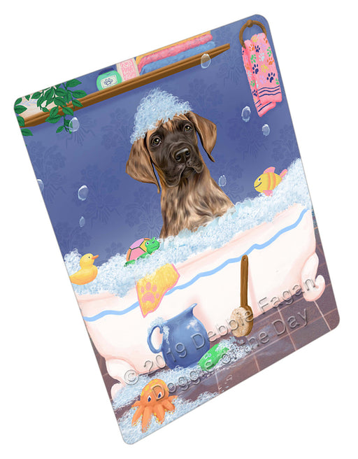 Rub A Dub Dog In A Tub Great Dane Dog Refrigerator / Dishwasher Magnet RMAG109236
