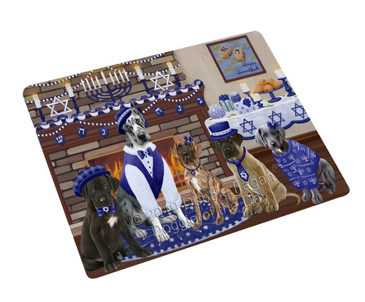 Happy Hanukkah Family and Happy Hanukkah Both Great Dane Dogs Large Refrigerator / Dishwasher Magnet RMAG105498