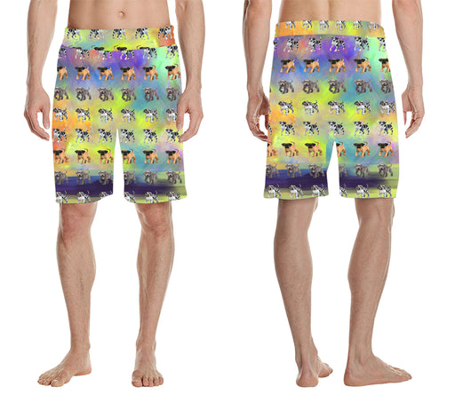 Paradise Wave Great Dane Dogs All Over Print Men's Casual Shorts