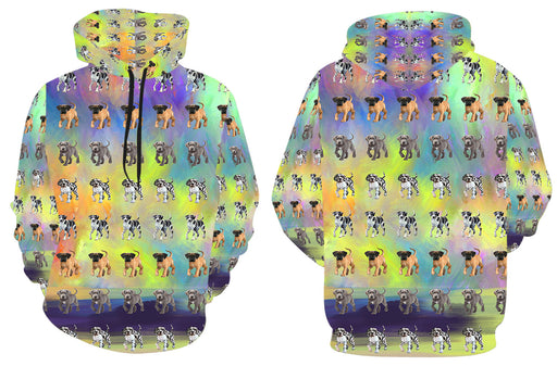 Paradise Wave Great Dane Dogs All Over Print Kid's Hoodie