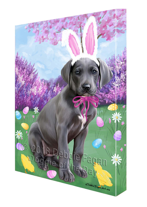 Great Dane Dog Easter Holiday Canvas Wall Art CVS58008