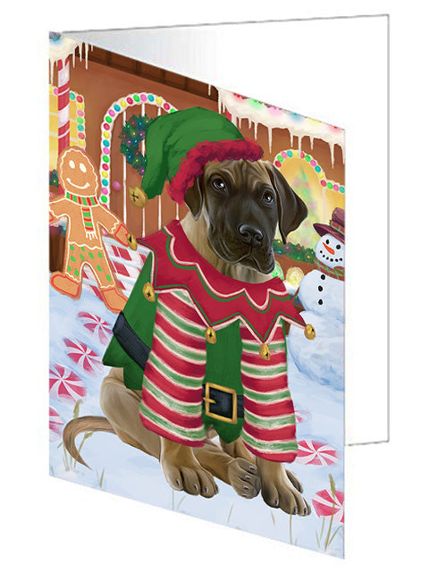 Christmas Gingerbread House Candyfest Great Dane Dog Note Card NCD73553