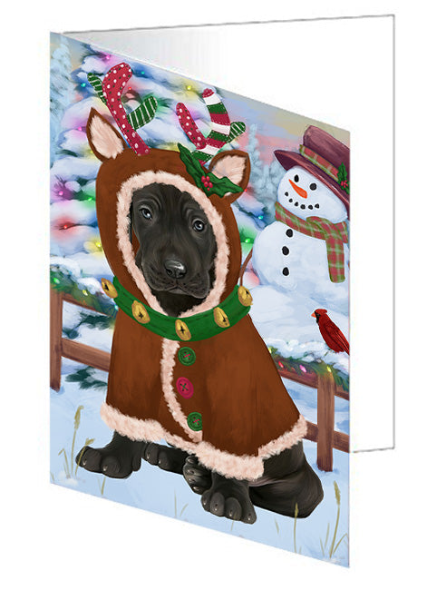 Christmas Gingerbread House Candyfest Great Dane Dog Note Card NCD73556
