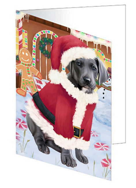 Christmas Gingerbread House Candyfest Great Dane Dog Note Card NCD73559