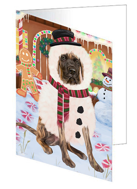 Christmas Gingerbread House Candyfest Great Dane Dog Note Card NCD73562