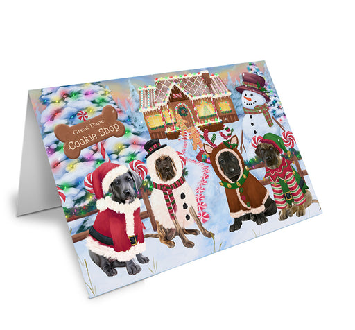 Holiday Gingerbread Cookie Shop Great Danes Dog Note Card NCD73724