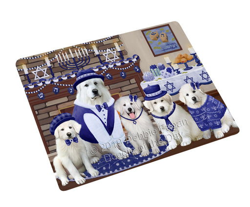 Happy Hanukkah Family and Happy Hanukkah Both Great Pyrenees Dogs Large Refrigerator / Dishwasher Magnet RMAG105504