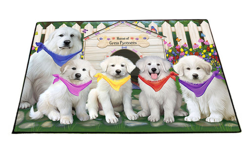 Spring Dog House Great Pyrenees Dog Floormat FLMS51549