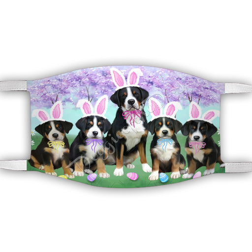Personalized Easter Holiday Greater Swiss Mountain Dogs Custom Garden Flags GFLG-DOTD-A58885