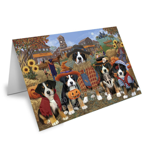 Halloween 'Round Town Greater Swiss Mountain Dogs Note Card NCD77852