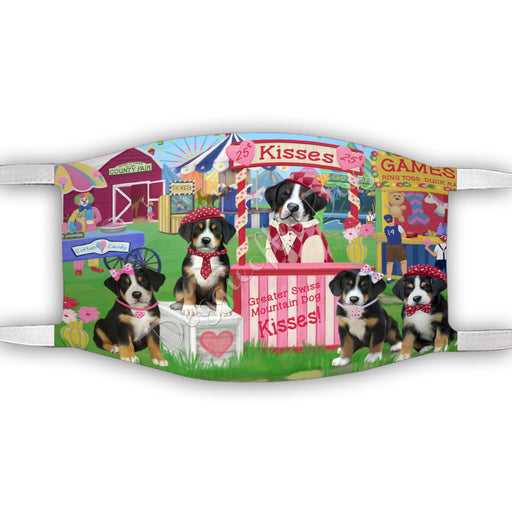 Carnival Kissing Booth Greater Swiss Mountain Dogs Face Mask FM48052