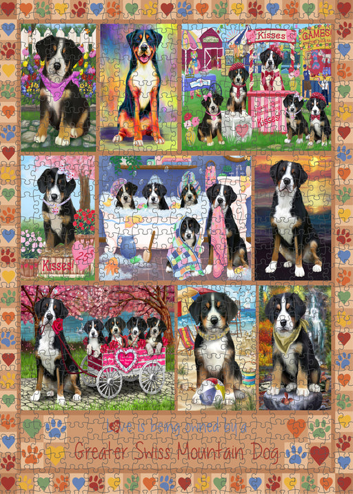 Love is Being Owned Greater Swiss Mountain Dog Beige Puzzle with Photo Tin PUZL98460