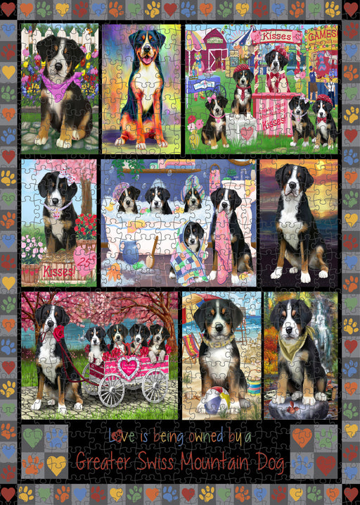 Love is Being Owned Greater Swiss Mountain Dog Grey Puzzle with Photo Tin PUZL98464