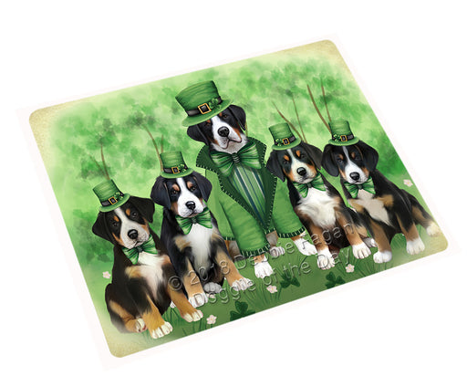 St. Patricks Day Irish Portrait Greater Swiss Mountain Dogs Refrigerator / Dishwasher Magnet RMAG104484