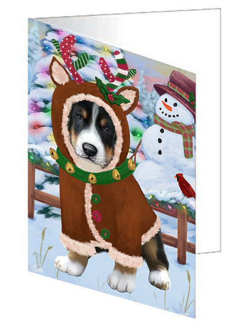 Christmas Gingerbread House Candyfest Greater Swiss Mountain Dog Note Card NCD73580