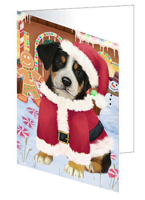 Christmas Gingerbread House Candyfest Greater Swiss Mountain Dog Note Card NCD73583