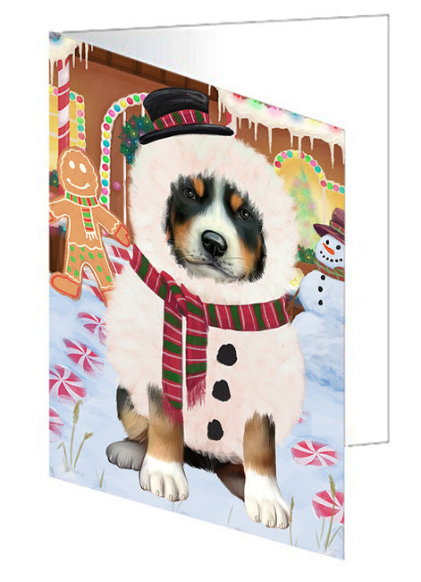 Christmas Gingerbread House Candyfest Greater Swiss Mountain Dog Note Card NCD73586