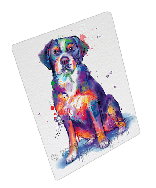 Watercolor Greater Swiss Mountain Dog Blanket BLNKT133437