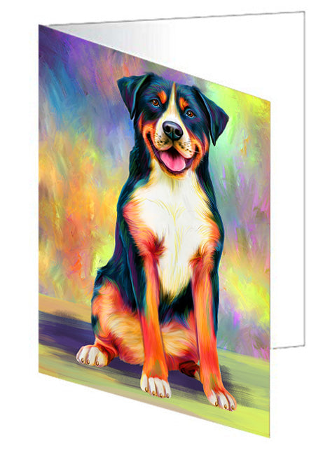 Paradise Wave Greater Swiss Mountain Dog Note Card NCD72728