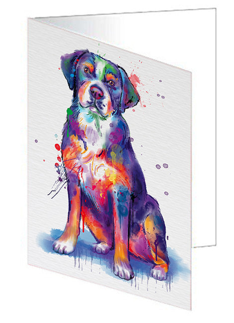Watercolor Greater Swiss Mountain Dog Note Card NCD76781