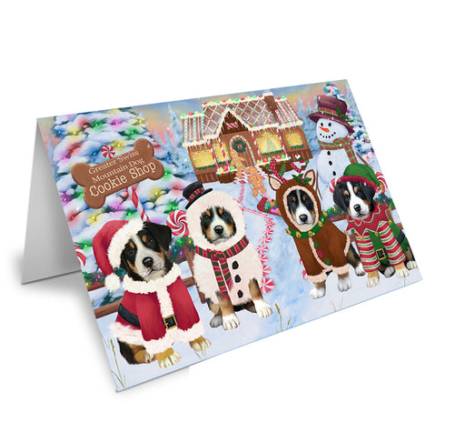 Holiday Gingerbread Cookie Shop Greater Swiss Mountain Dogs Note Card NCD73730